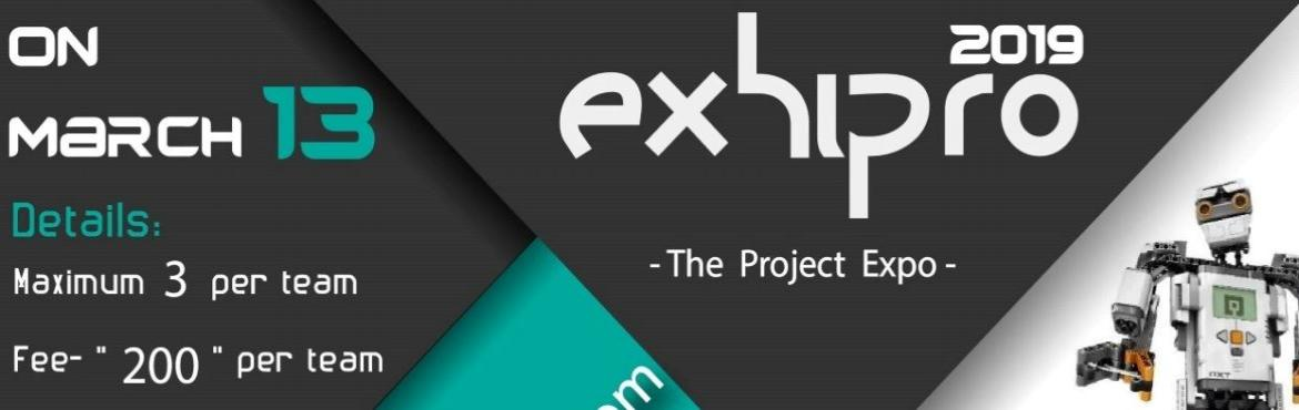 Book Online Tickets for Exhipro - The Project Exhibition, Hyderabad. Exhipro@ Spoorthi 2K19 !!  Here\'s an exciting opportunity to display your idea to the world through a working prototype. Exhipro is a project presentation competition where you can exhibit your idea through a working prototype model and they will be