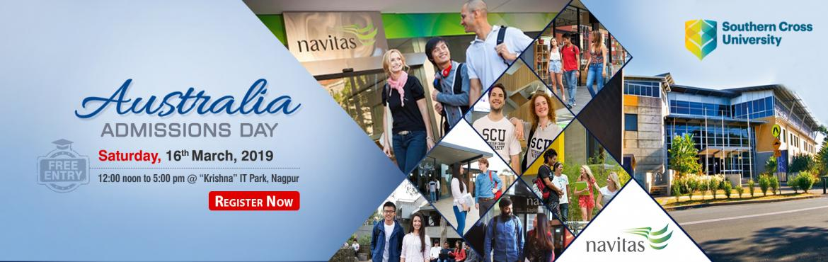 Book Online Tickets for Attend Australia Admissions Day at KC Na, Nagpur. Interact Face to Face with Australian University Delegates!!! Study at reputed Australian Universities to boost your future career. Meet the experts to get a step-by-step guidance on how to successfully start your education in Australia.Attend Austra