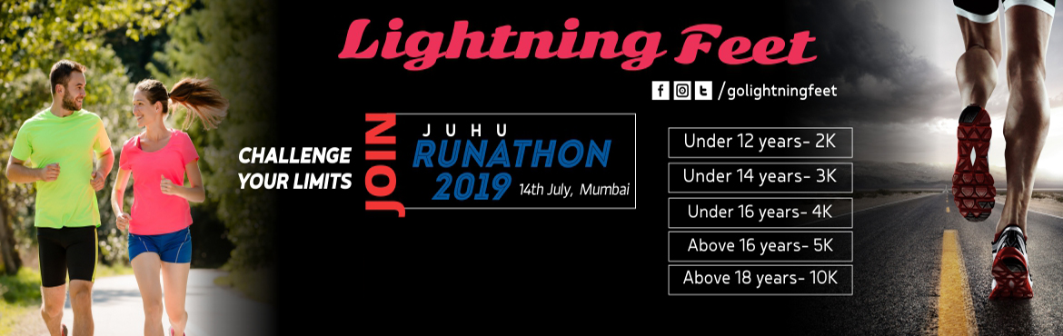 Book Online Tickets for Lightning Feet Juhu Runathon 2019, Mumbai. After successful completion of 2 editions, 3rd edition of LIGHTNING FEETJUHU RUNATHON awaits you on Sunday, 14th of July 2019.The only event where entire Family gets an opportunity to participateand allows you to create inspiration