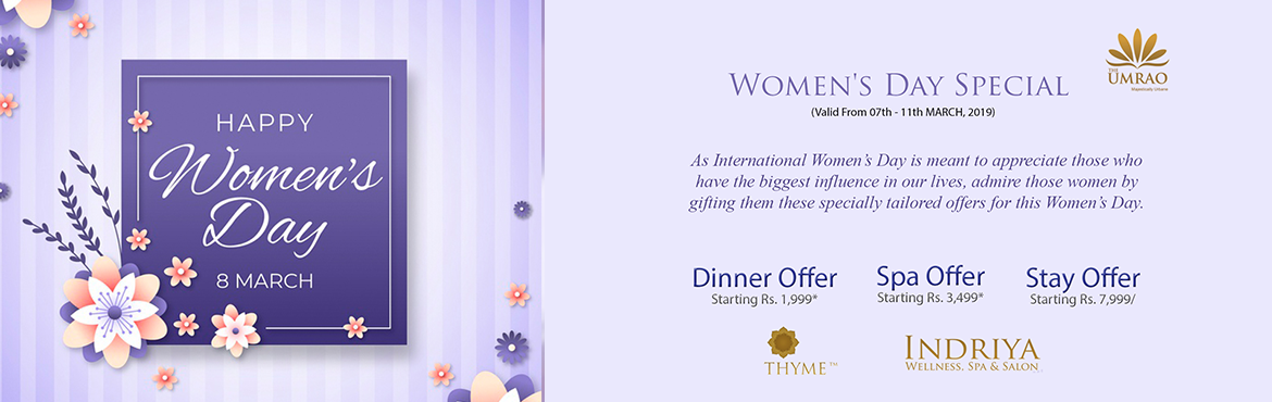 """Book Online Tickets for Womens day at UMRAO, New Delhi. Women's Day (Dining Offer)  Women's Day is around the corner and it's the perfect excuse to get your girl gang together and have a fun day at TripAdvisor Ranked #1 Restaurant """"Thyme"""" get 15% discount with your Gang"""
