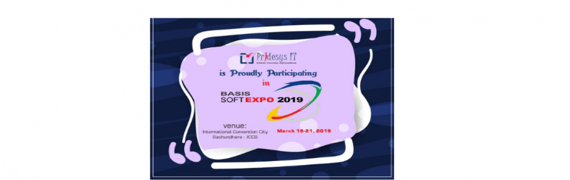 Book Online Tickets for Pridesys at BASIS SoftExpo 2019, Dhaka. Pridesys IT Limited is proud to announce that we will be participating in the BASIS SOFT EXPO, 2019. This is a great honor and opportunity for us to be a part of such a prestigious event. Hopefully we will achieve something great.Event details: