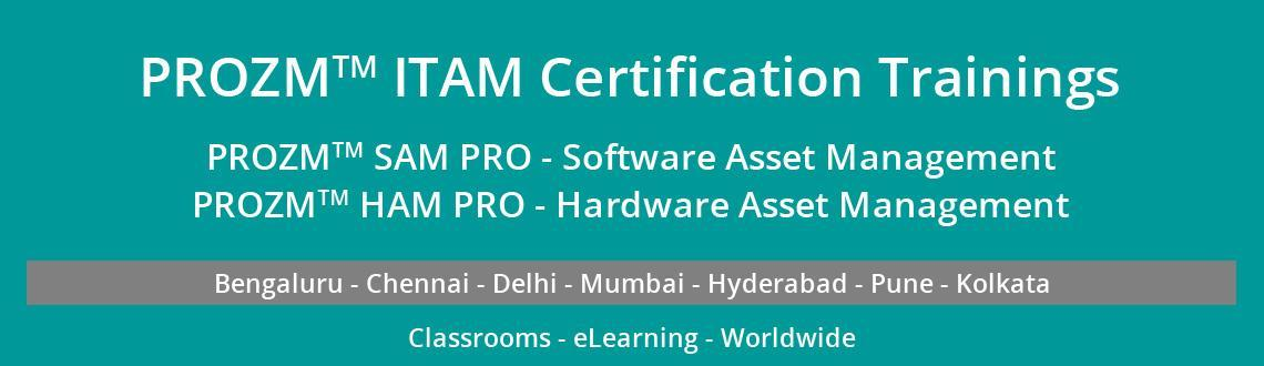"Book Online Tickets for PROZMâ""¢ HAM PRO TRAINING & CERTIFIC, Bengaluru. PROZM™ HAM PRO – The Certification Course is conceptualized, developed and delivered by PARAS with inputs from Information Technology Hardware Asset Management (HAM) SMEs, Consultants, Practitioners, Auditors, Trainers, OEMs, IT Asse"