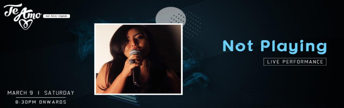 Book Online Tickets for Not Playing Live Band - Performing LIVE , New Delhi.  Not Playing Live Band is performing live at Te Amo Restaurant, Ansal Plaza on 9th March at 8:30 pm onwards, So make your way to Te Amo, Ansal Plaza on this weekend to enjoy the Sufi music live performance.  Not Playingis the live S