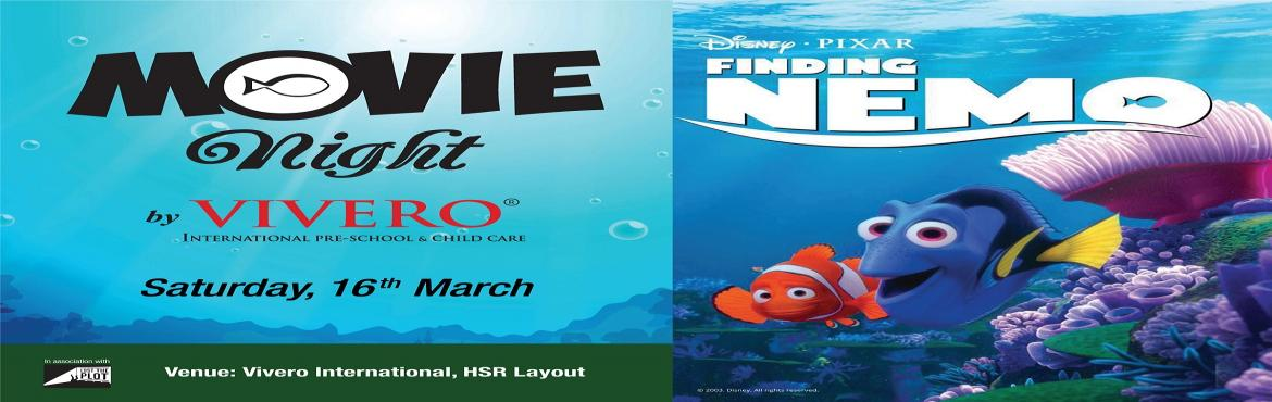 Book Online Tickets for Finding Nemo Movie at Vivero, HSR Layout, Bengaluru. Set sail to a magical ocean of adventure brought to life by Disney's beloved animation, 'Finding Nemo'! Load up on those buttery golden popcorns and grab yourself a mushy cushion to plop on as we prepare your transportation to The G