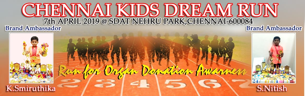 Book Online Tickets for Chennai Kids Dream Run 2019, Chennai.   CHENNAI KIDS DREAM RUN 2019  KIDS DREAM RUN is Chennai's finest under 15 Kids Run, it aims to create awareness on importance of organ donation and teach the importance of exercise and a healthy lifestyle by encouraging children to walk/r