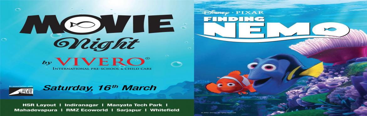 Book Online Tickets for Finding Nemo Movie at Vivero, Indiranaga, Bengaluru. Set sail to a magical ocean of adventure brought to life by Disney's beloved animation, 'Finding Nemo'! Load up on those buttery golden popcorns and grab yourself a mushy cushion to plop on as we prepare your transportation to The G