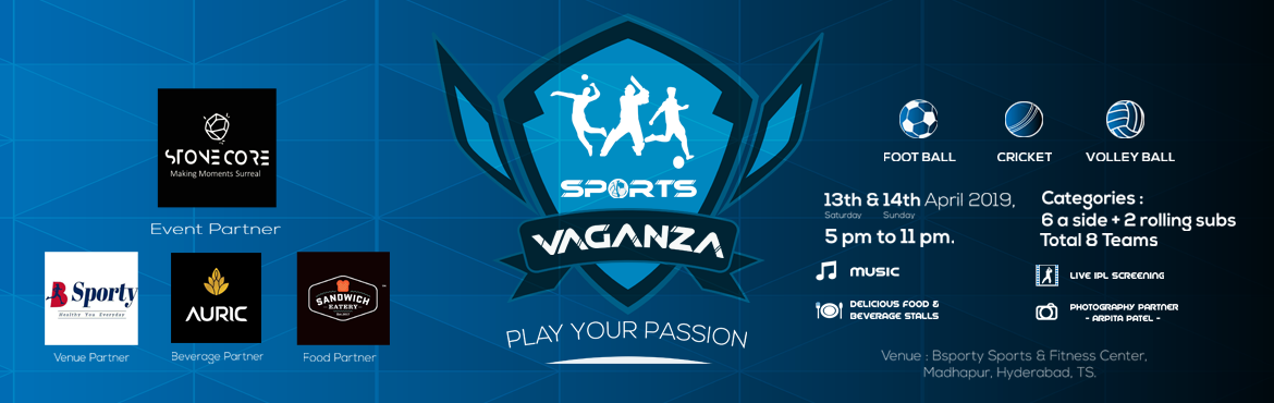 Book Online Tickets for Mix Corporate Volley Ball Tournament , Hyderabad. Are you someone who loves watching, playing or being connected to sports? Sportsvaganza is the event that has it all. Cricket, football and volleyball tournaments, you can register as teams or individuals and focus on your game while we take care of