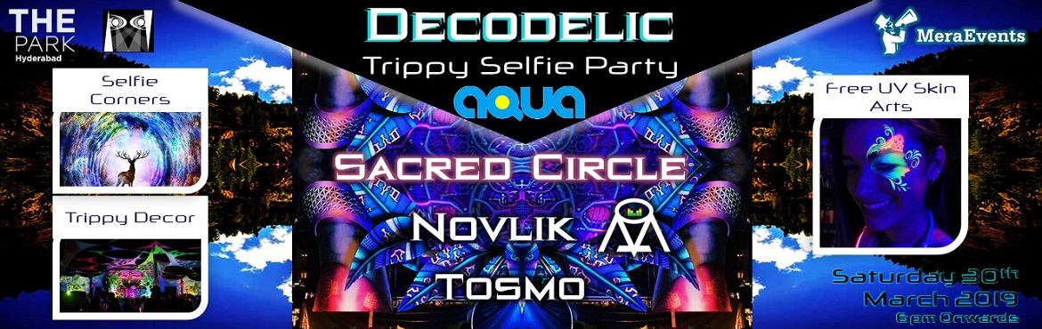 Book Online Tickets for Decodelic Trippy Selfie Party, Hyderabad. Vibes get real as Hyderabad embraces a one-of-a-kind, truly thematic and photogenic selfie party decorated with colours! Boasting of a custom-designed set, trippy stretch-fabric decor, delicately calculated lighting & superbly powe