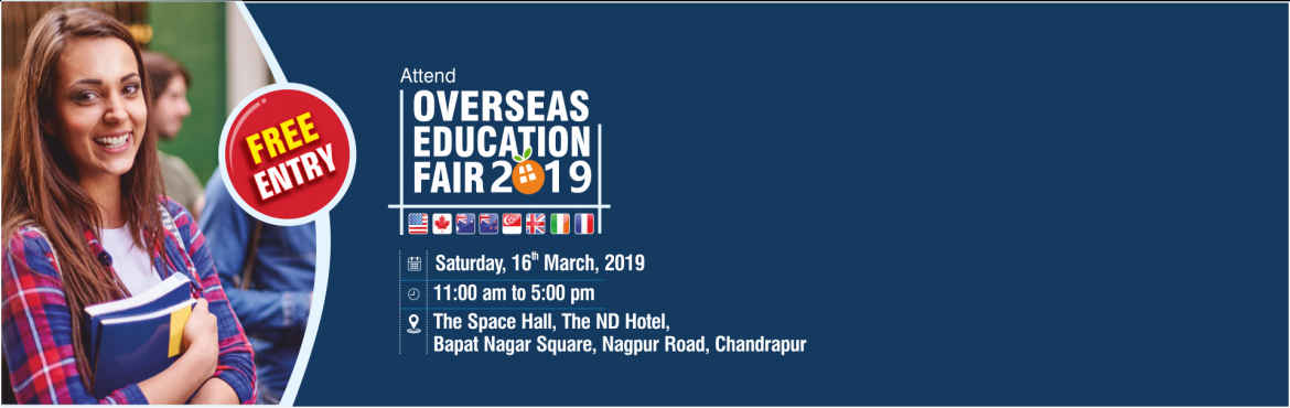 Book Online Tickets for Overseas Education Fair in Chandrapur - , Chandrapur. Krishna Consultants is conducting an Overseas Education Fair for all students who are looking to pursue their education from Abroad. Ask your queries directly to expert country counselors & get complete information about top Courses, Admission Pr