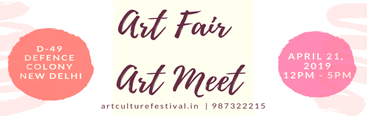 Book Online Tickets for Galleries meet, delhi. Art Culture Festival is honored to announce the conference on Art & Culture on April 21, 2019 at D-49 Defence Colony New Delhi, Delhi. It is an annual, cultural event for the free exchange and dissemination of ideas on Art and culture, that aims
