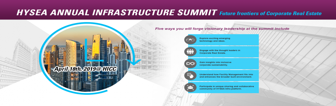 Book Online Tickets for HYSEA Annual INFRA Summit 2019, Hyderabad.