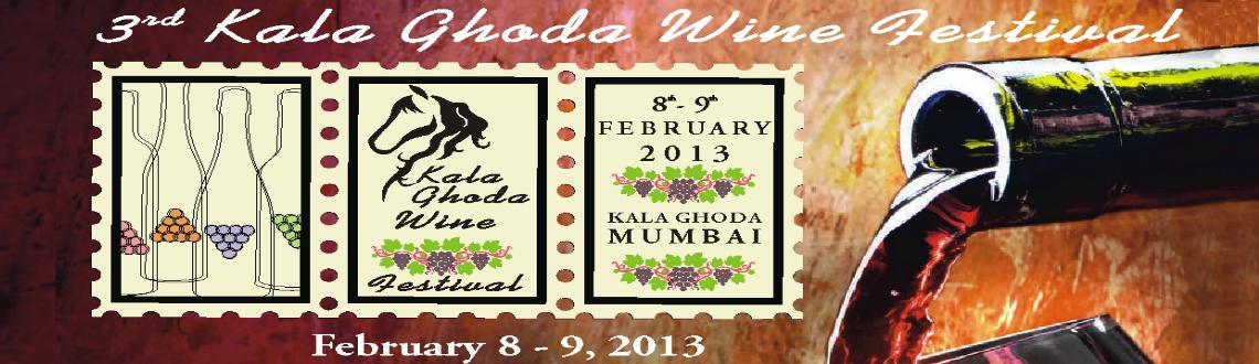 Book Online Tickets for 3rd Kala Ghoda Wine Festival 2013, Mumbai. Key Activitie:  Wine Tasting – from top Indian wineries and boutique wineries. Wines form from Australia, France, Italy, Chile, etc.    Wine & Cheese – cheese tasting - unique and delicious experience - different kinds of natural