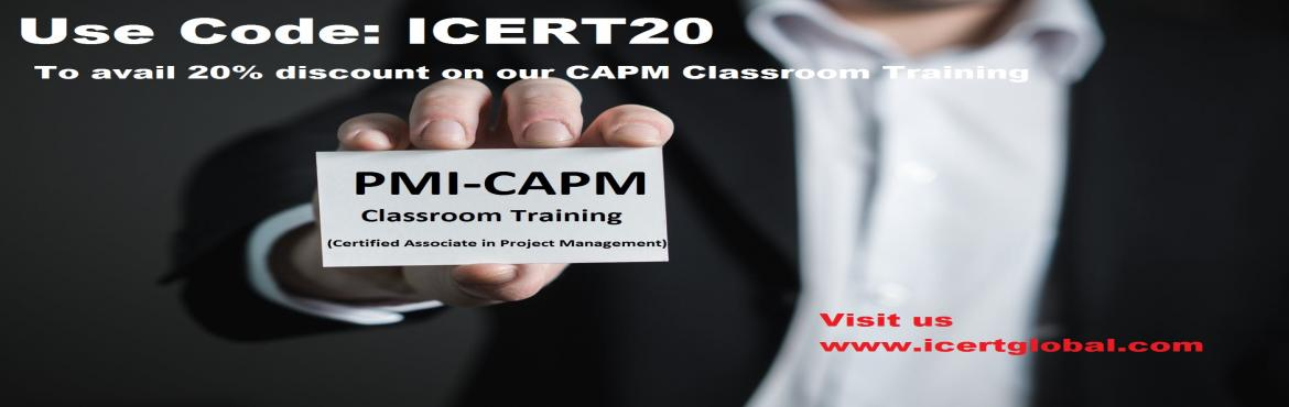 Book Online Tickets for CAPM CERTIFICATION TRAINING COURSE IN AK, Akron. iCert Global is one of the leading authorized professional certification training providers all over the globe. We specialize training for Project Management [PMP®, PRINCE2®, MSP], Service management [ Intermediate, MALC and Expert Track], Qu