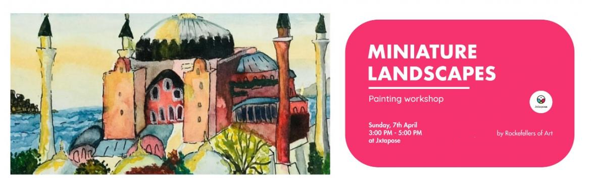 Book Online Tickets for MINIATURE LANDSCAPE, Hyderabad. Rockefellers of Art, a collaboration of multiple artists is coming down to jxtapose to conduct a beginners watercolor painting workshop on Miniature Landscapes.They will be touching base with concepts like color theory, scale and proportions, waterco