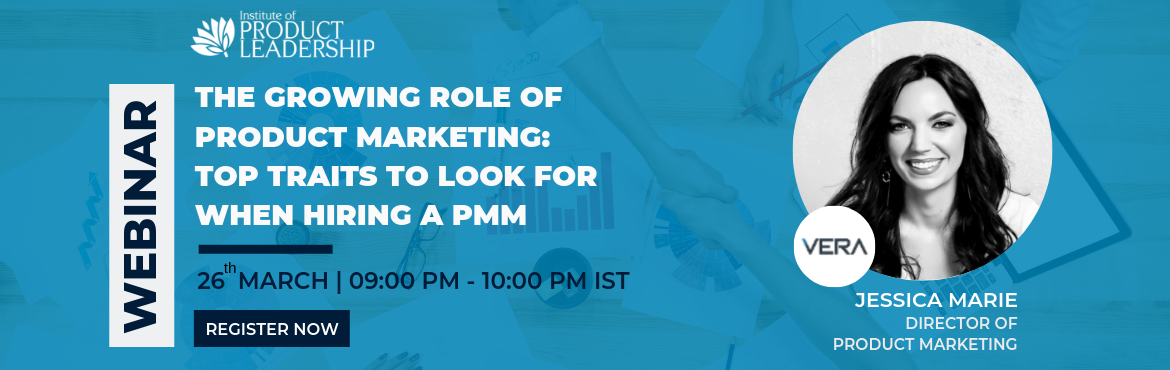 Book Online Tickets for Webinar: The Growing Role of Product Mar, Bengaluru.  Key Takeaways:  Relevance of industry experience How to create great go to market strategies Know how to manage the marketing and sales enablement process depending on goals    About the Speaker: Jessica Marie is an expert in enterprise te