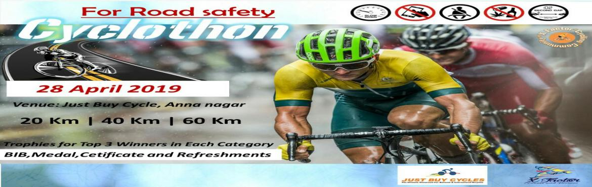 Book Online Tickets for Cyclothon - For Road Safety, Chennai. The Department's activities in education and awareness form an  important contribution to its efforts to foster road safety knowledge in  the Emirate as they focus on the users of the DoT network, namely  drivers, riders and pede
