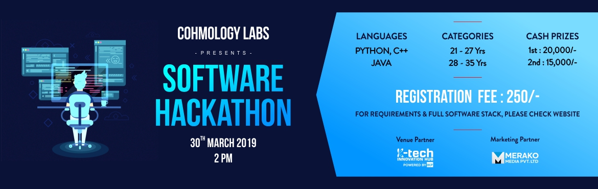 Book Online Tickets for SOFTWARE HACKATHON, Mysuru. This will be an on-spot Hackathon. Details of the problem will be released during the event. This event is centered around development in general wherein a problem will be given to each individual and they need to code it. Winners will also