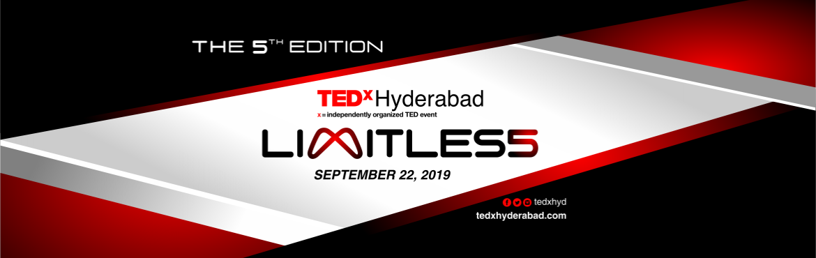 "Book Online Tickets for TEDxHyderabad 2019, Hyderabad. The only way to discover the limits of the possible is to go beyond them into the impossible."" – Arthur C Clarke   The time may be limited, but the opportunities are limitless. The capacity may be limited, but the potential is limitl"
