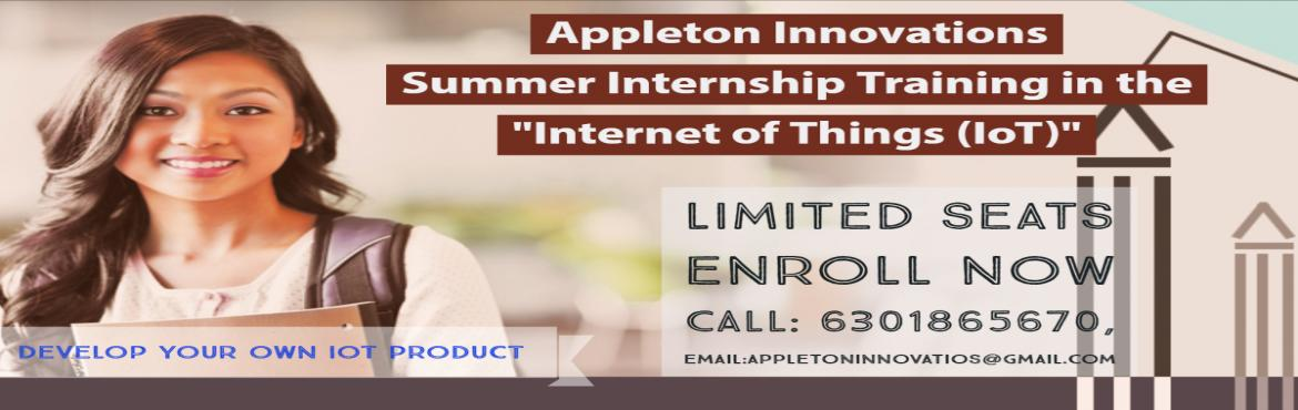 Book Online Tickets for Summer Internship Training on INTERNET O, Visakhapat. India\'s Biggest Internet of Things Internship TrainingEver. Learn Latest Hardware, Software, Communication and Cloud Tools and Technologies from Experts and work on more than 30 Real-time Projects in IoT. Learn from Industry experts and IIT Bo