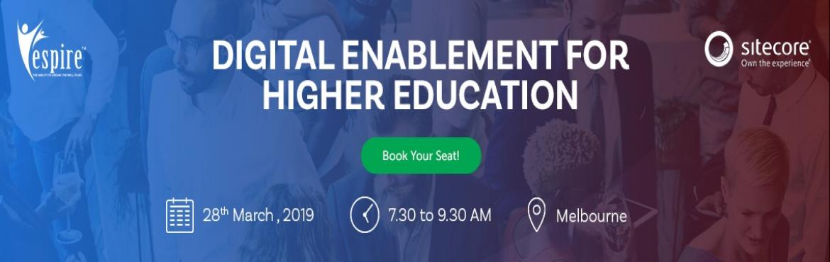 Book Online Tickets for Breakfast Meet for Higher Education Melb, Melbourne. Espire will be hosting an exclusive power-packed breakfast meet with our partner, Sitecore on the need for \