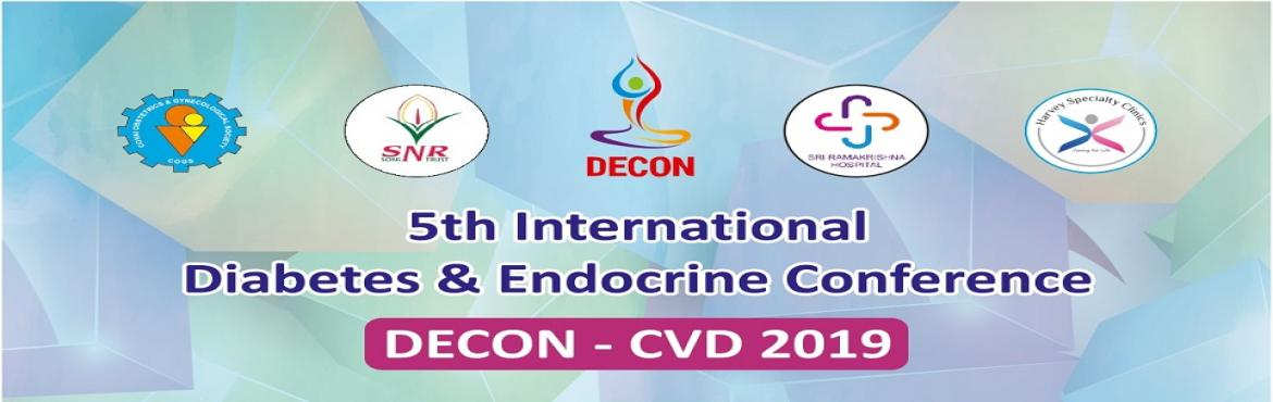 Book Online Tickets for 5th International Diabetes and Endocrine, Coimbatore. DECON: The Diabetes and Endocrine Conference was founded for the sole motive of creating an International platform for endocrinologists all over the World which would lead to a better and more efficient diagnosis, mitigation, treatment, and cure of d