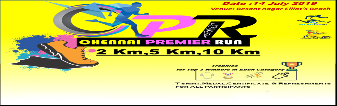 Book Online Tickets for Chennai Premier Run, Chennai. Chennai Premier Run - PR is a series Run of all the states.  PPR Pune Premier Run on 05 May 2019 HPR Hydrabad Premier Run on 19 May 2019 CPR Chennai Premier Run on 14 July 2019 (Upcoming premier Runs at Kochi and Bangalore) This run is open