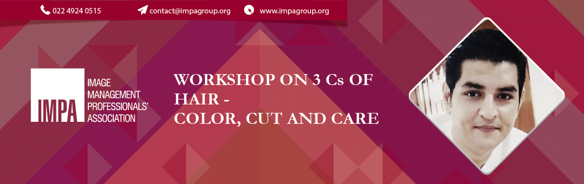 Book Online Tickets for 3 CS OF Hair - Delhi, New Delhi. About the expert We invite you to attend  Topic:WORKSHOP ON 3 CS OF HAIR - COLOR, CUT AND CARE BY SAURABH SONI  BENEFITS/TAKE AWAYS FOR THE CONSULTANTS: 1. Different hair colors for different personal colors2. Brands of good h