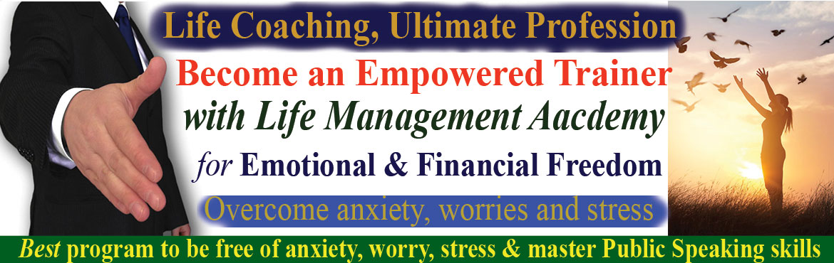 Book Online Tickets for Become an Empowered Trainer with Life Ma, Hyderabad. Become an Empowered Trainer with Life Management Academy.  If you are passionate about not only improving the quality of your life, but helping others do the same, then this might be the most important program for you. The program carried out over an