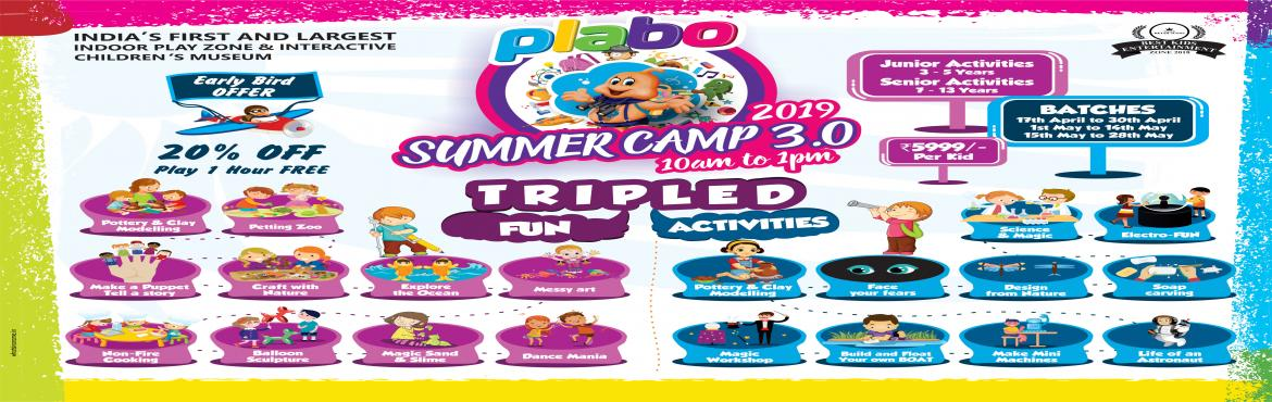 Book Online Tickets for SUMMER CAMP - PLABO 3.0, Hyderabad. Remember the fun you had at Summer camp last year? Well, we're back this year. This time, bring your friends along and start exploring and experimenting. Because science is all fun and games. The upcoming summer camp in PLABO and details as fol