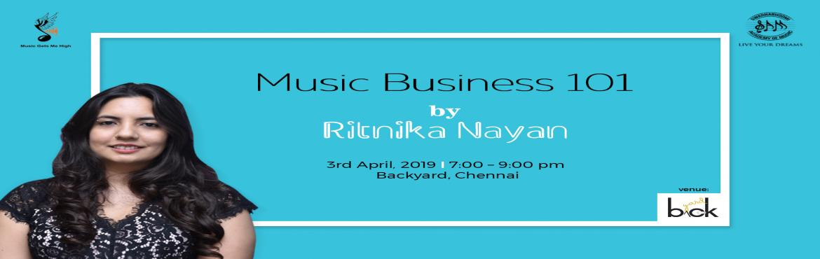 Book Online Tickets for Music Business 101 - With Ritnika Nayan, Chennai. The Music industry is more than just singing and playing musical instruments. In the recent past, the music industry has grown leaps and bounds with a whole lot of opportunities in India. With each passing day, these opportunities are only growing an