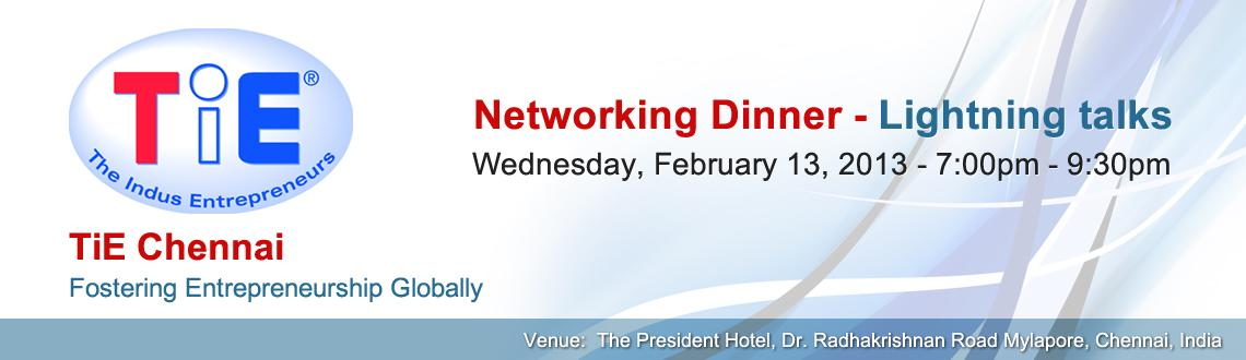 Networking Dinner- Lightning talks