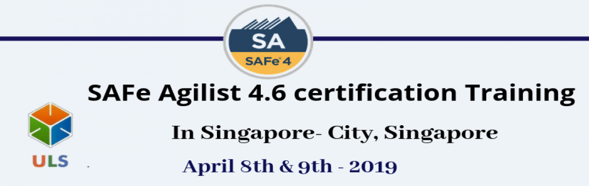 Book Online Tickets for SAFe Agilist 4.6 Certification Training , Singapore. Ulearn System's Offer SAFe Agilist 4.6 Certification Training Course Singapore-City, Singapore, Best Leading SAFe Agile Training Institute in Singapore-City, Singapore Enroll for Classroom SAFe Agilist 4.6 Certification Training in Singap