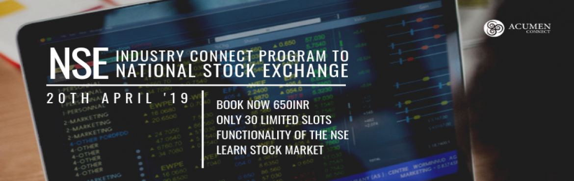 Book Online Tickets for Industry Visit to National Stock Exchang, Hyderabad. There are a total 22 stock exchanges in India andNational Stock Exchangehas a total market capitalization of more than US$2.27 trillion, making it the world\'s 11th-largest stock exchange Dive into the Stock Marketing Industry and get an