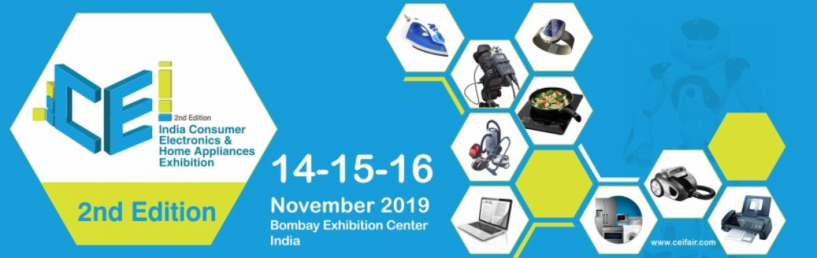Book Online Tickets for India Consumer Electronics and Home Appl, Mumbai.   The CEI expo is the complete B2B show presenting a complete sourcing, manufacturing and production solution for the electronics & home appliance industry. The show delivers success by creating business opportunities in allied as well as co