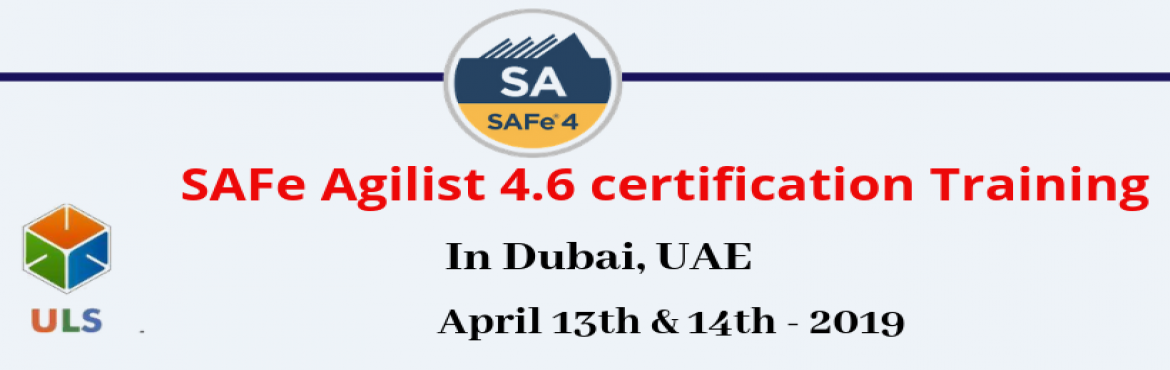 Book Online Tickets for SAFe Agilist 4.6 Certification Training , Dubai. Ulearn System's Offer SAFe Agilist 4.6 Certification Training Course Dubai, UAE, Best Leading SAFe Agile Training Institute in Dubai, UAE Enroll for Classroom SAFe Agilist 4.6 Certification Training in Dubai, UAE from Ulearn Systems. we deliver