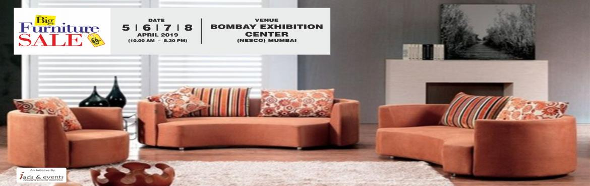 Book Online Tickets for The Big Furniture Sale - MUMBAI, Mumbai. The Big Furniture Sale is back in Mumbai with the latest in the contemporary, modern, vintage and many such collection to suit your unique style and taste. Selection and purchase of different types of furniture and interiors from across the world is