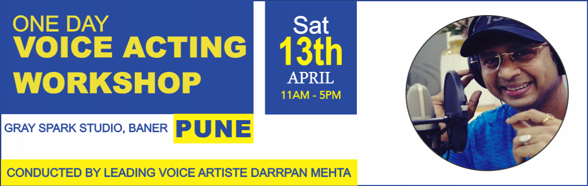 Book Online Tickets for One Day Voice Acting Workshop with leadi, Pune. Sugar Mediaz presents One Day Voice Acting Workshop with Darrpan Mehta on 13th April 2019.  The One Day Beginners Voice Acting Workshop aims to give insights into the fascinating craft of Voice Acting. Conducted in a state of the art studio, th