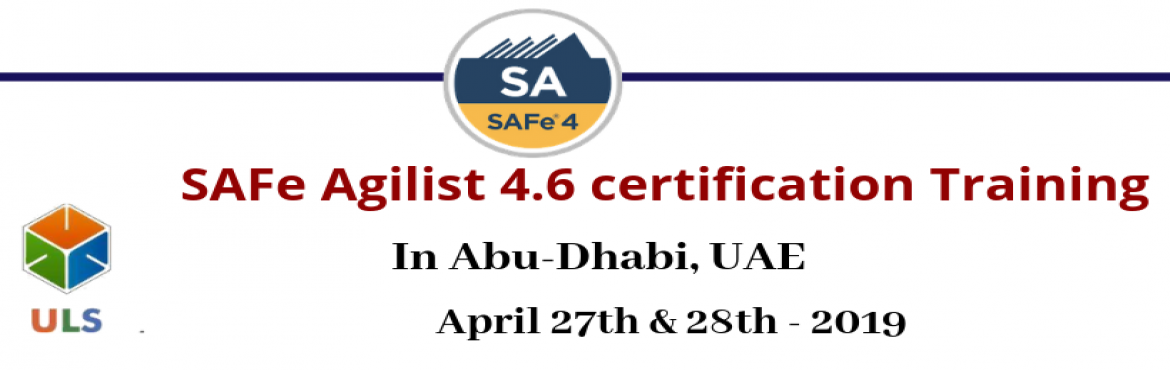 Book Online Tickets for SAFe Agilist 4.6 Certification Training , Abu Dhabi. Ulearn System's Offer SAFe Agilist 4.6 Certification Training Course Abu-Dhabi, UAE, Best Leading SAFe Agile Training Institute in Abu-Dhabi, UAE Enroll for Classroom SAFe Agilist 4.6 Certification Training in Abu-Dhabi, UAE from Ulearn Systems