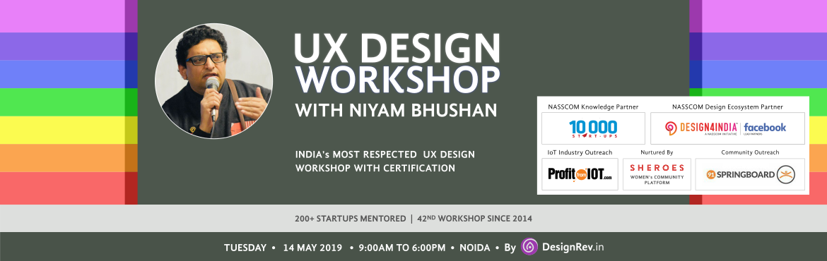 One-day workshop on on User-Experience UX Design. For mobile and tablet apps, web, UI, Internet-of-things (IoT), enterprise software. NOIDA, Delhi, NC