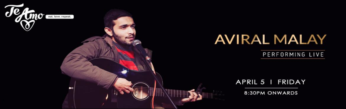 Book Online Tickets for Aviral Malay- Performing Live at Te Amo,, New Delhi. Aviral Malay is performing Live at Te Amo Restaurant, Ansal Plaza on 5th April at 8:30 PM onwards. Aviral Malayis a professional & veteran singer based out of, New Delhi. His musical skill set includes a variety of genres ranging from Bolly