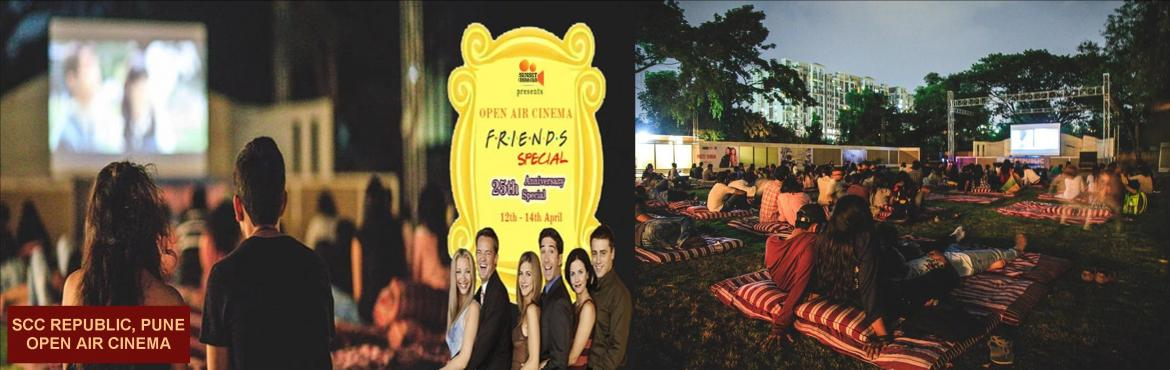 Book Online Tickets for OPEN AIR CINEMA - F.R.I.E.N.D.S SPECIAL, Pune. Sunset Cinema Club brings to you a super special 25thAnniversary screening of the funniest F.R.I.E.N.D.S episodes ever spread over an entire weekend. Promised to bring waves of laughter to the city the screenings will take place at Pune's