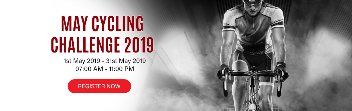 Book Online Tickets for May Cycling Challenge 2019  , Hyderabad.  May Challenges:            Daily Challenge 5K/10K Cycling for 22 days in a month One Day Challenge 25K/42K/50K in a day.   HOW TO PARTICIPATE:    You have to cycling minimum of 5 Kms / 10 Kms daily in a month at least 22 day