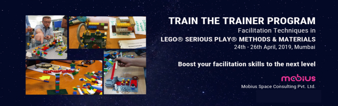Book Online Tickets for Train the trainer - Facilitation Techniq, Mumbai. UNLEASH THE POWER OF PLAY Learn Facilitation Techniques LEGO® SERIOUS PLAY® Methods & Materials from 2 Internationally Certified Trainers 24th to 26th April 2019, Mumbai Description   LEGO® SERIOUS PLAY® is an internationally