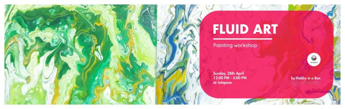 Book Online Tickets for FLUID ART WORKSHOP, Hyderabad. HOBBY in a BOX will be at Juxtapose on 28th April from 12:00 PM - 3:00 PM conducting a workshop on creating Fluid Art with acrylic paint. They will paint beautifully colourful and flowing organic pieces of art on canvases that they can take back with