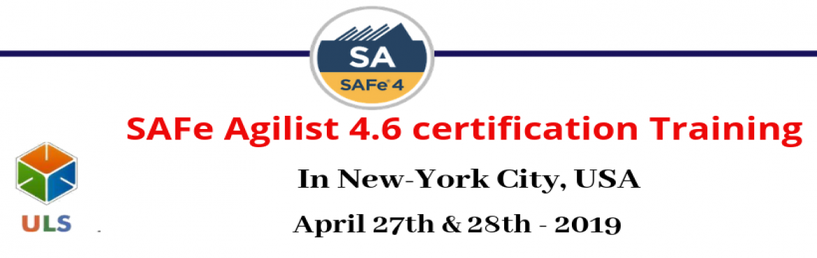 Book Online Tickets for SAFe Agilist 4.6 Certification Training , New York. Ulearn System's Offer SAFe Agilist 4.6 Certification Training Course New-York City, USA, Best Leading SAFe Agile Training Institute in New-York City, USA Enroll for Classroom SAFe Agilist 4.6 Certification Training in New-York City, USA from Ul
