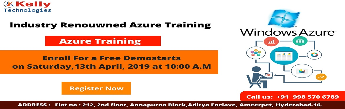 Book Online Tickets for Get Enroll To Attend Free Demo On Azure , Secunderab. Windows Azure Training In Hyderabad will help you become an all-round certified professional in Windows Azure Cloud-based profession. This free demo session has mainly been scheduled with the intent of elevating the present day\'s exclusive demand fo