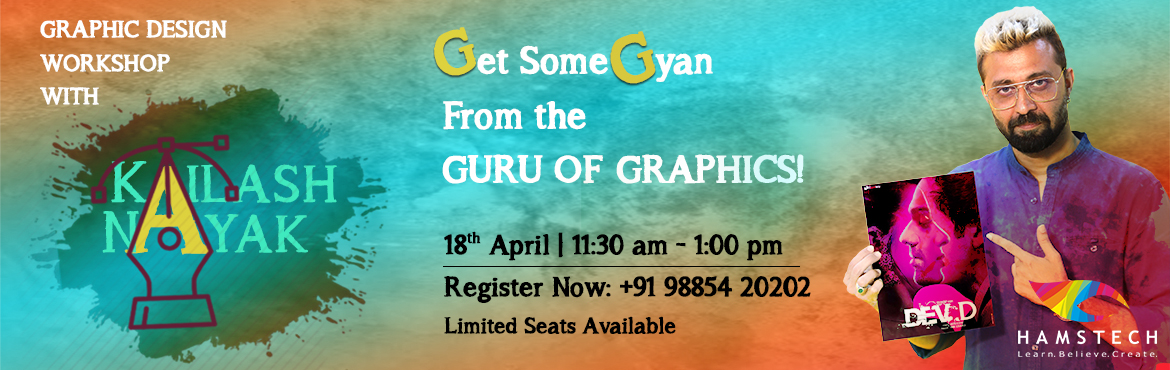 Book Online Tickets for Get Some Gyan from The Guru of Graphics , Hyderabad.  The artistic man behind the creation of award-winning movie posters of Dev.D, Bahubali, 102 Not Out & more is now coming to your city – to spill the secrets of Graphic Design! A designer with an extensive experience of over 10 years,