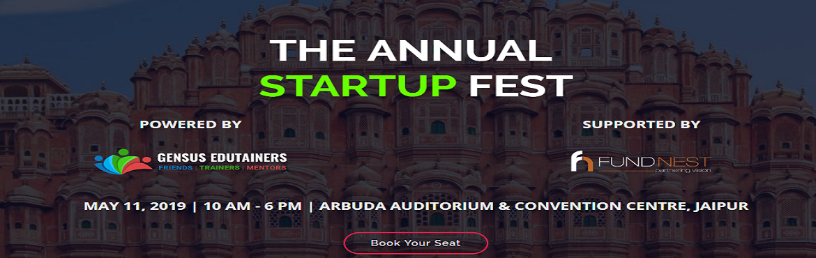 Book Online Tickets for THE ANNUAL STARTUP FEST - STARTUP CHAUPA, Jaipur. The Startup Chaupal is a platform for startups, individuals, venture capitalists, accelerators, Incubators, angel investors and service providers to come and be part of a large mix to celebrate entrepreneurs and entrepreneurship with opportunity to i