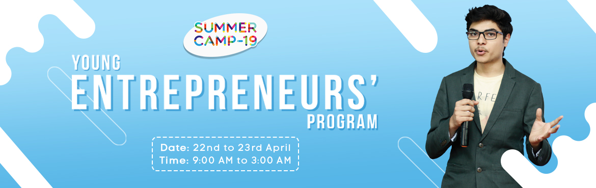 Book Online Tickets for Young Entrepreneurs Program - Jubilee Hi, Hyderabad.   Metamorphosis is organising India\'s largest Summer Camp and is all set to provide courses on Entrepreneurship, Policy-making and Film-making in 15+ centres in Hyderabad and many more cities. Beat the heat with us and let\'s make ideas ha