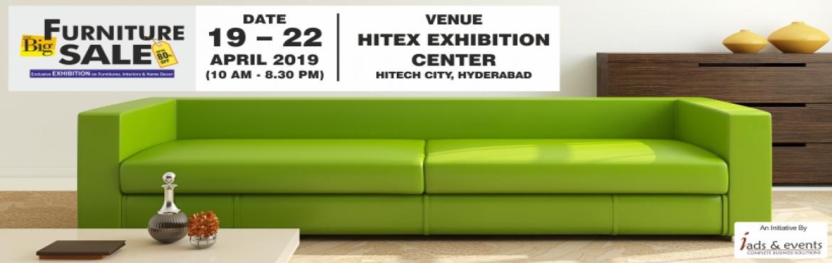 Book Online Tickets for Big Furniture Sale - Hyderabad, Hyderabad. Hi Hyderabad ! iads & events presents an exclusive furniture sale and discounts with up-to 80% OFF on the largest collections of home decor and furniture from across the world. Don\'t miss it !